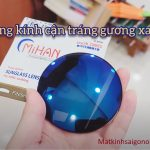 Tròng cận màu tráng gương xanh chính hãng Mihan